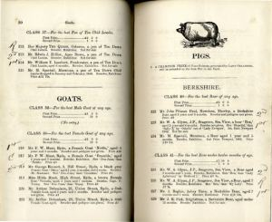 Isle of Wight Agricultural Show Catalogue 1889
