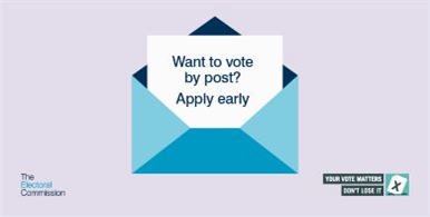 Apply to vote by post