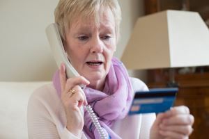 A resident was targeted by a telephone caller, whose name appeared as 'council' on her mobile phone.